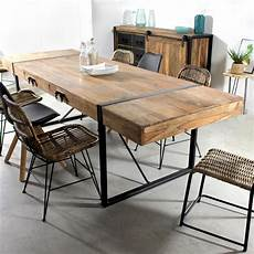 table salle a manger style industriel table 224 manger avec rallonges industrielle made in meubles