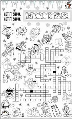 winter crossword worksheets 19981 winter crossword esl worksheet by angelamoreyra