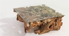 Teak Wurzel Tisch - teak root coffee table
