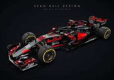 bull formule 1 bull porsche 2018 livery concept with halo formula1