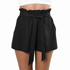 high waisted tie up shorts