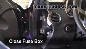 Interior Fuse Box Location 2010 2013 Chevrolet Camaro
