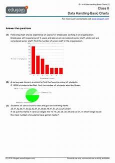 grade 8 math worksheets and problems data handling basic charts edugain usa