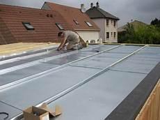 toit plat en zinc terrasse bois sur toiture zinc