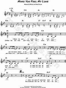 adele quot make you feel my love quot sheet music leadsheet in bb major transposable download