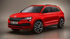 skoda karoq scout sportline renders are probably highly