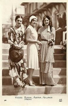 miss europe candidates 1930 the misses russia austria and holland tea party fashion