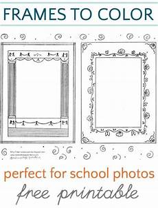 school frame coloring pages