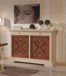 credenze in legno classiche credenza madia in legno 2 ante bicolore avorio e noce