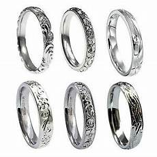 3mm vintage engraved sterling silver court comfort wedding rings 925 hm new ebay