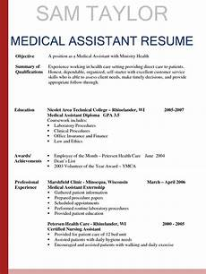 sle resumes for medical assistant sle resumes