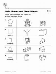 solid shapes worksheets for grade 1 1267 solid shapes and plane shapes worksheet for 2nd grade lesson planet