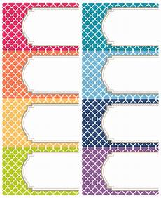 printable moroccan tile designed labels free printable