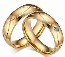 high quality couple rings for men cubic zirconia wedding ring gold colorwedding rings