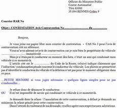 modele lettre de contestation contravention modele de