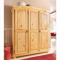 armoire penderie 3 portes en pin massif largeur 150 cm