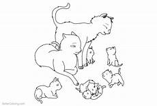 cat coloring pages family outlined by rjtheawsome11 free