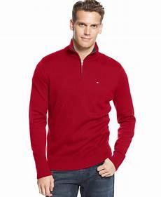 lyst hilfiger mclaughlan half zip sweater in