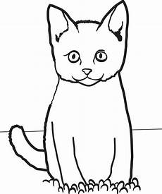 Katze Sitzend Malvorlage Cat Coloring Pages Free On Clipartmag