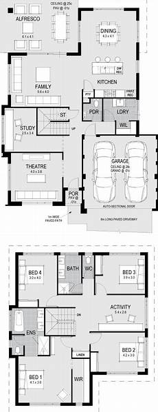 bungaloft house plans the esteem floorplan double storey house plans house