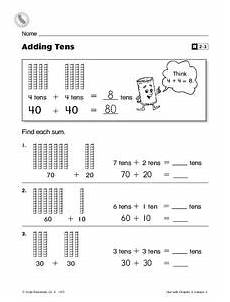 addition worksheets with tens and ones 9662 adding tens worksheet for 2nd grade lesson planet