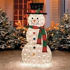 Decorations Outdoor Sale by Buy Sale 48 Quot Outdoor Lighted Pre Lit Snowman Sculpture