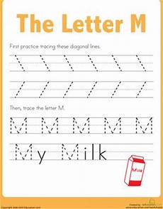 tracing worksheets letter m 24276 17 best images about preschool tracing on motor snow and preschool