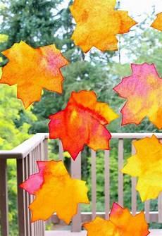 Herbst Fensterbilder Basteln H 252 Bsche Bl 228 Tter Aus Papier