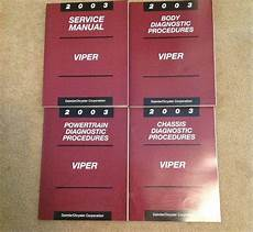 online car repair manuals free 2003 dodge viper electronic toll collection buy lot of 4 2003 dodge viper service manuals shop repair set oem dealership books motorcycle in