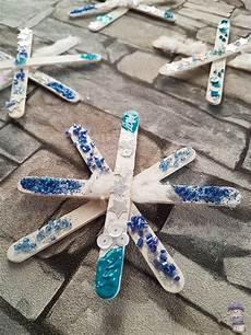 sterne aus eisstielen diy winterfensterdekokinder