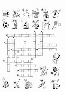 sport crossword puzzles for children k5 worksheet