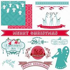 scrapbook design elements vintage merry christmas and new year stock vector 169 woodhouse