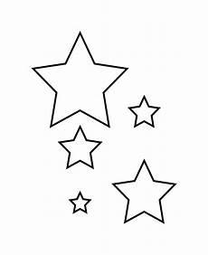 Sterne Malvorlagen Vorlage Ausschneiden Schablone Sterne Zum