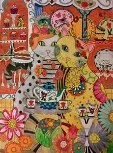 Jugendstil Malvorlagen Tiere Quot Festa Do Ch 225 Quot Quot Gatos Quot Marjorie Sarnat 171 From Creative