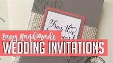 Easy Diy Wedding Invitations