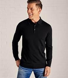 polo shirts sleeve sleep black merino mens new merino sleeve polo shirt