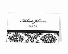 Avery Table Place Card Template Instant Avery Place Card Template Damask