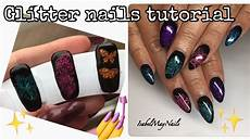 Easy Glitter Gel Nail Tutorial