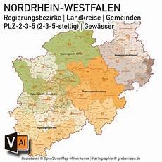 plz karte nrw plz landkarte