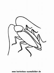 ausmalbilder kakerlake tiere zum ausmalen malvorlagen