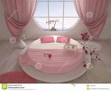 chambre a coucher avec lit rond chambre 224 coucher avec un lit rond illustration stock