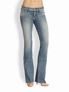 lyst 7 for all mankind midrise bootcut in blue