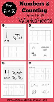 pre k numbers 1 to 10 worksheets and activities preschool worksheets numbers preschool
