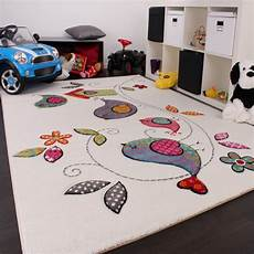 Teppich Für Kinderzimmer - kinder teppich vogel design creme blau orange gr 252 n ebay