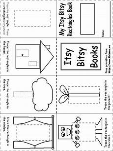 shapes worksheets kindergarten 1152 rectangle itsy bitsy book shapes preschool preschool worksheets mini books