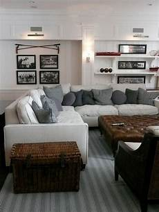 living rooms that sport a book comfortable family room with vintage sports theme white