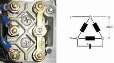 drehstrommotor mit kondensator die steinmetzschaltung