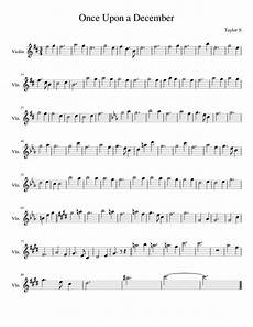 once upon a december sheet music for piano violin