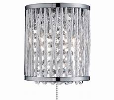searchlight elise 2 light switched wall light chrome finish with crystal drops 7222 2cc from