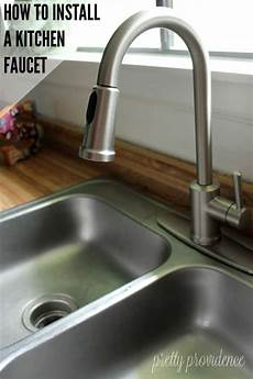 install a kitchen faucet how to install a kitchen faucet step by step tutorial